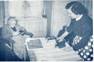 Aide à domicile dans les années 50